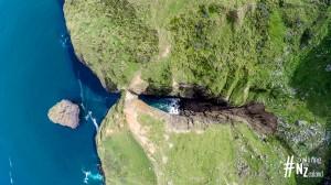 Otago Peninsula Lovers Leap Aerial