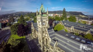 Otago University Clock Tower Building Aerial