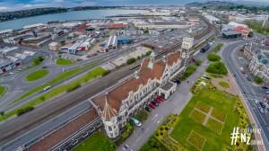 Dunedin Railway Station Aerial 1